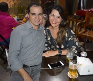 Cristian e Karin Moz também estiveram no lançamento do novo cardápio.