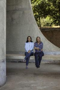 As organizadoras Sueli Cardoso e Stella Pastana Tozo.