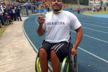 O atleta Malcon César Ramos, medalha de prata no atletismo PCD. Foto: Divulgação PMI.
