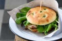 O sanduíche de pancetta. Fotos: Lucas Terribili.